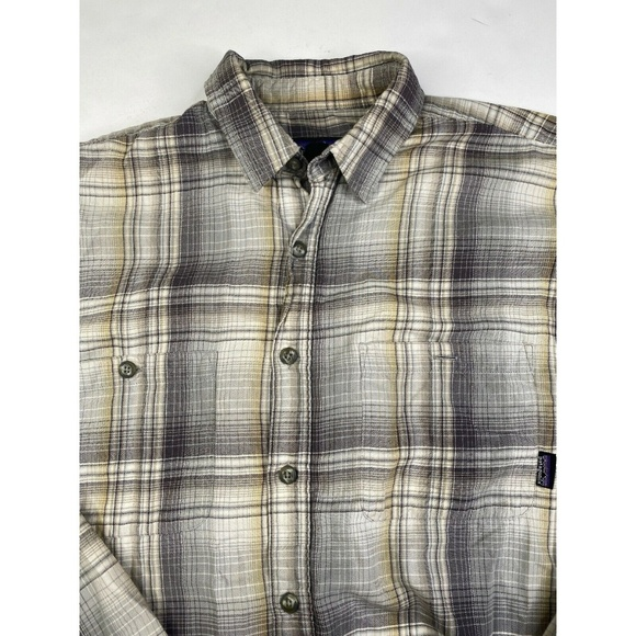 Patagonia Other - Patagonia Gray Soft Organic Plaid Button Shirt